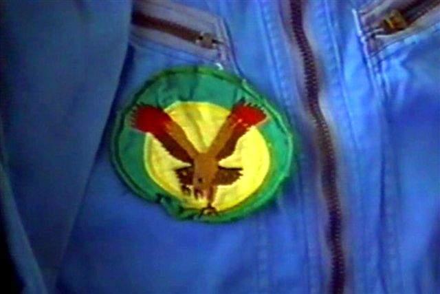 Macacão utilizado nas filmagens com emblema