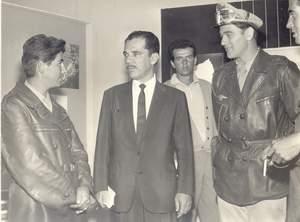 Governador do Paraná, Ney Braga com Ary Fernandes e Carlos Miranda