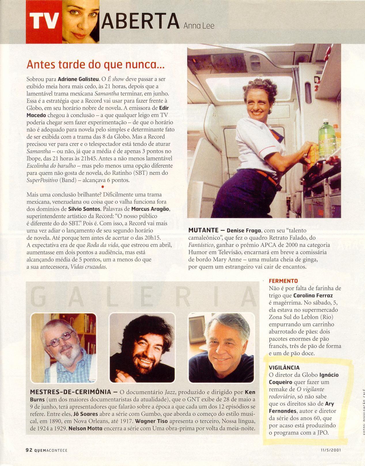 Revista QUEM - maio 2001