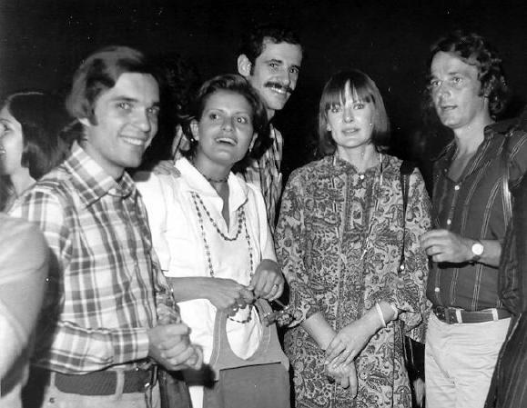 O Super Manso  Noite de lançamento.  Entre eles: Jussara freire, Marcos Caruso e Fausto Rocha  Direção, Produção, Argumento e Roteiro - 1974