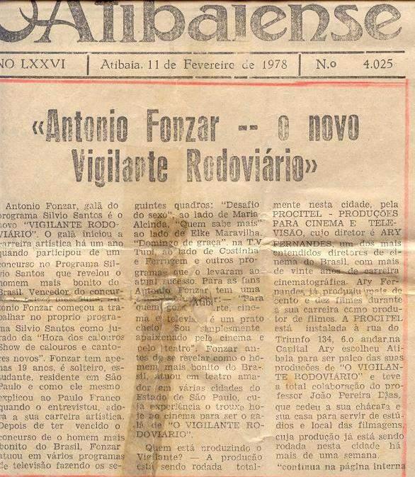 Segundo Vigilante Rodoviário de 1978