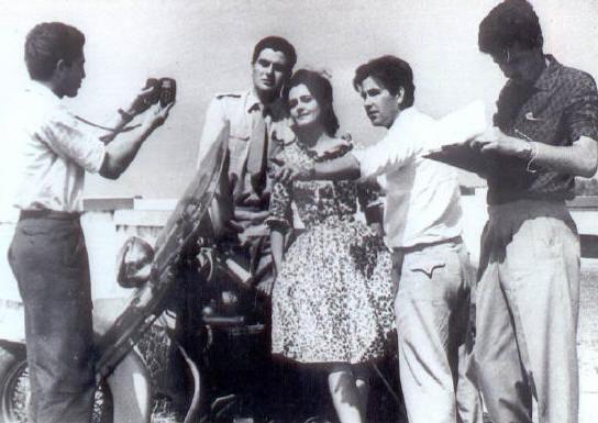 Vigilante Rodoviário®  Na foto, Rosa Maria Murtinho, Carlos Miranda, Ary e equipe