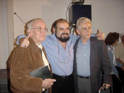 Noite de Autógrafos do Escritor Antônio Leão  O encontro dos cineastas:  Glauco Mirko Laureli, José Mojica e Ary Fernandes