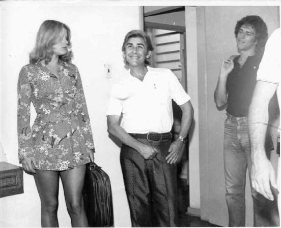 Anjo Loiro  Bastidores.  Vera Fisher, Ary Fernandes e Nuno Leal Maia..  Produtor Executivo. 1973
