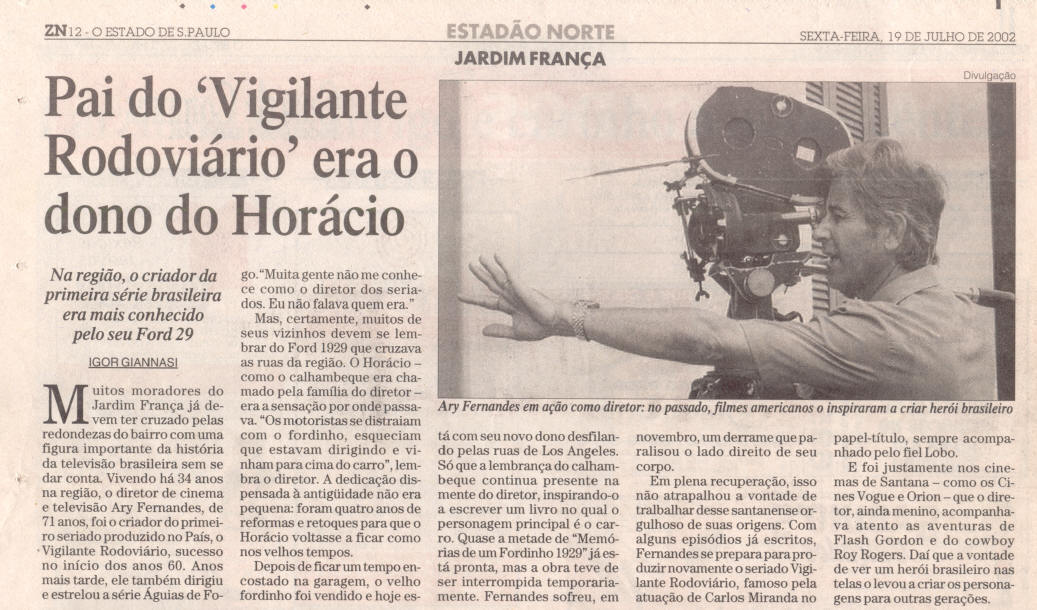 O Estado de São Paulo - 19/07/2002