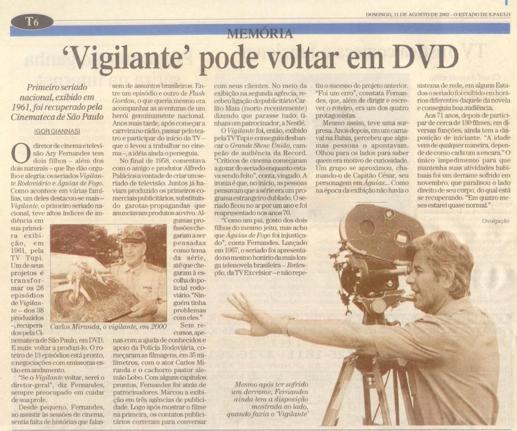 O Estado de São Paulo - 11/08/2002