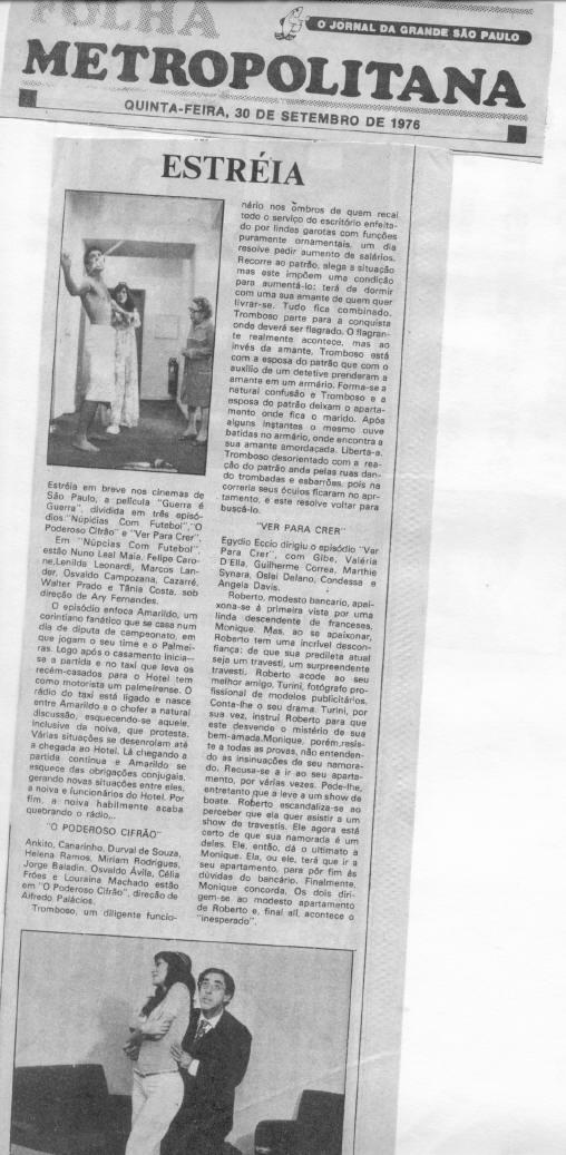 Folha Metropolitana - 1976