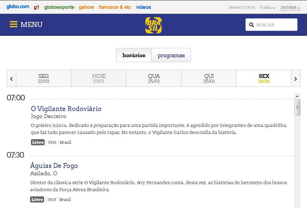 Vigilante Rodoviário e Águias de Fogo no Canal Brasil